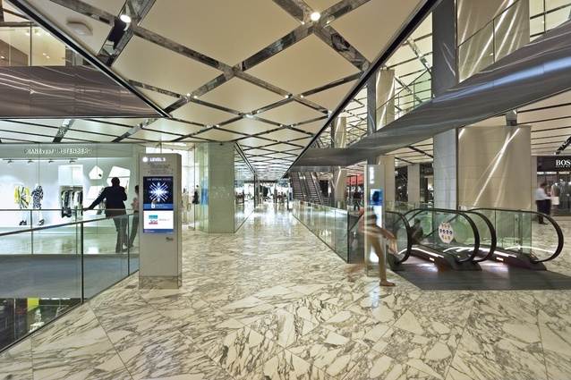 On levels three and four, marble is used to create a sense of luxury.