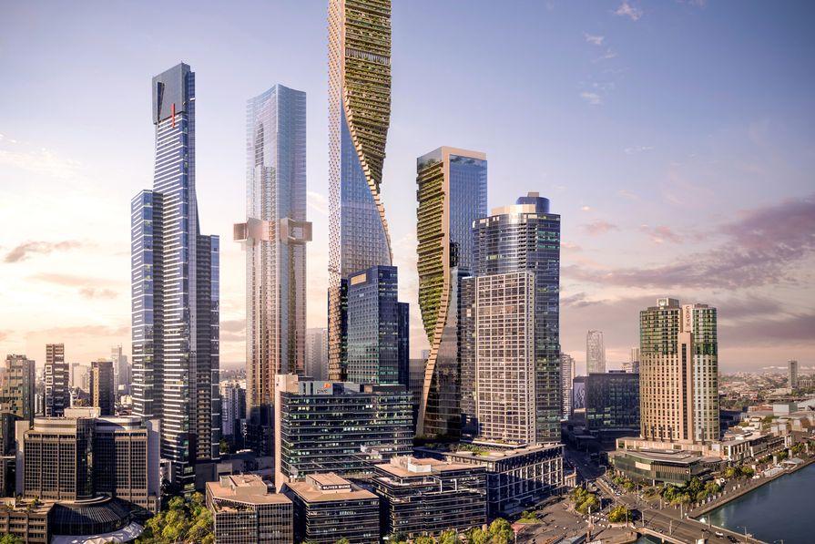 Green Spine by UN Studio and Cox Architecture.