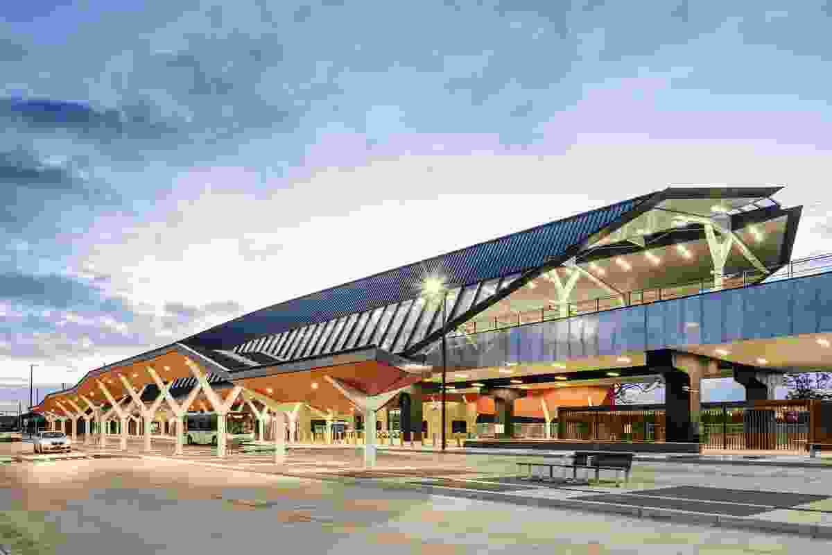 Commendation for Sustainable Architecture: Mernda Rail Extensions - Stations by Grimshaw.