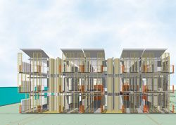 North elevation of the scheme by CR Architecture and Sense Architecture (Vic).