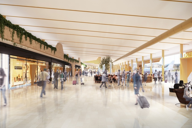 Retail spine in the Gold Coast Airport redevelopment, Project LIFT, by Cox Architecture.