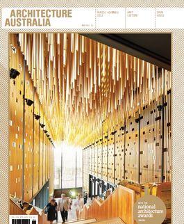 Architecture Australia, November 2011