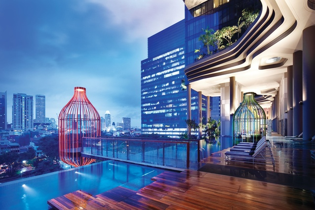 Parkroyal on Pickering, Singapore by WOHA.
