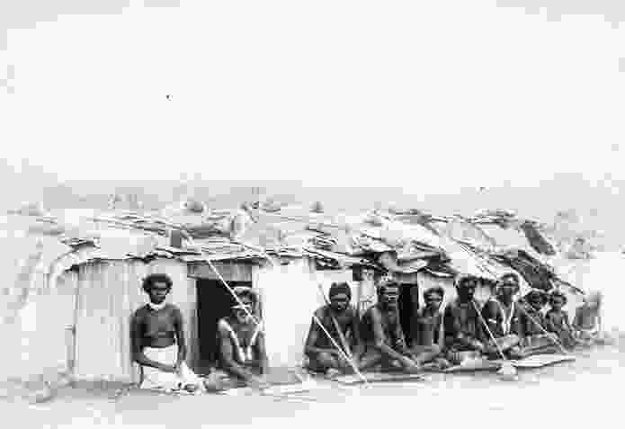 Camp, Darwin, date unknown. Iron was used and adapted by Indigenous communities.