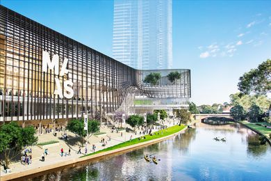 Indicative render of the proposed new Powerhouse Museum in Parramatta.