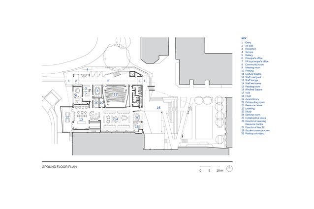Ground floor plan of the Mandeville Centre
