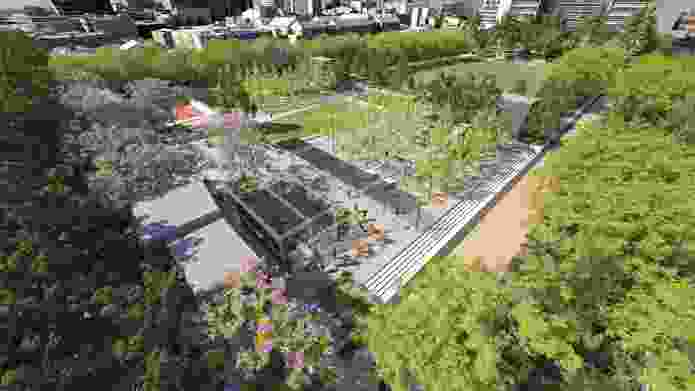 A plaza in the proposed University Square redevelopment.