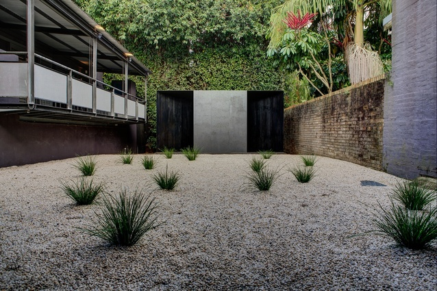 Crescent House by Andrew Burns in the SCAF courtyard.
