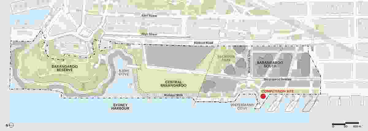 Site map of the proposed pavilion's location.