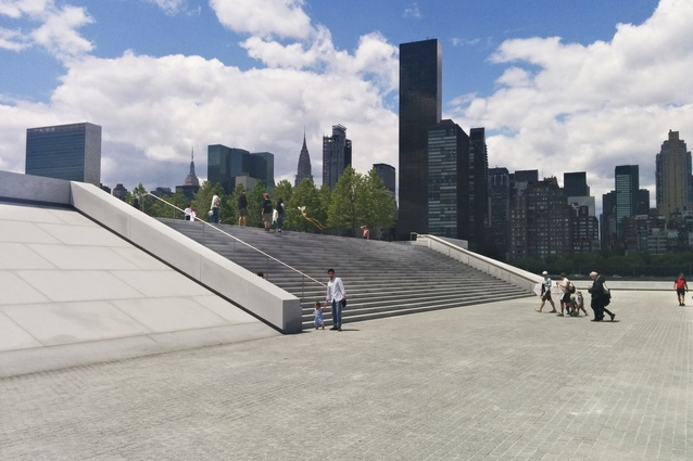 View towards Manhattan from Loius Kahn's Roosevelt Memorial and Four Freedoms Park, completed in 2010, 38 years after the original project was announced.