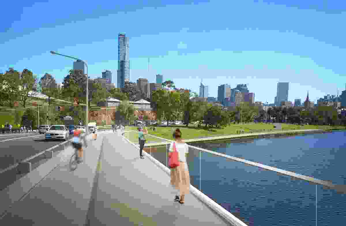 Design for Swan Street Bridge upgrade by Watson Architecture & Design.
