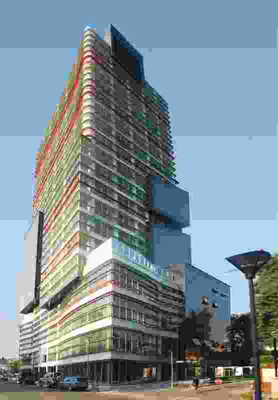 Polychromink Tower, Tirana, Albania, 2004–2008.