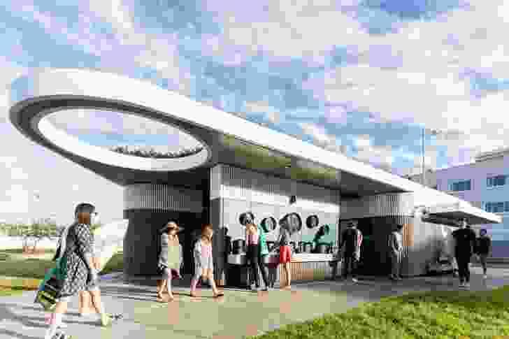 North Bondi Amenities (NSW) by Sam Crawford Architects with Lymesmith.
