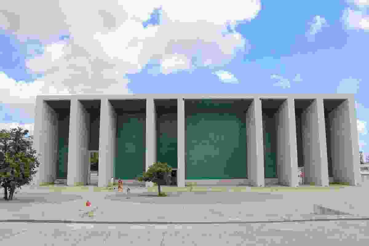 Portuguese Pavilion by Alvaro Siza Vieira.