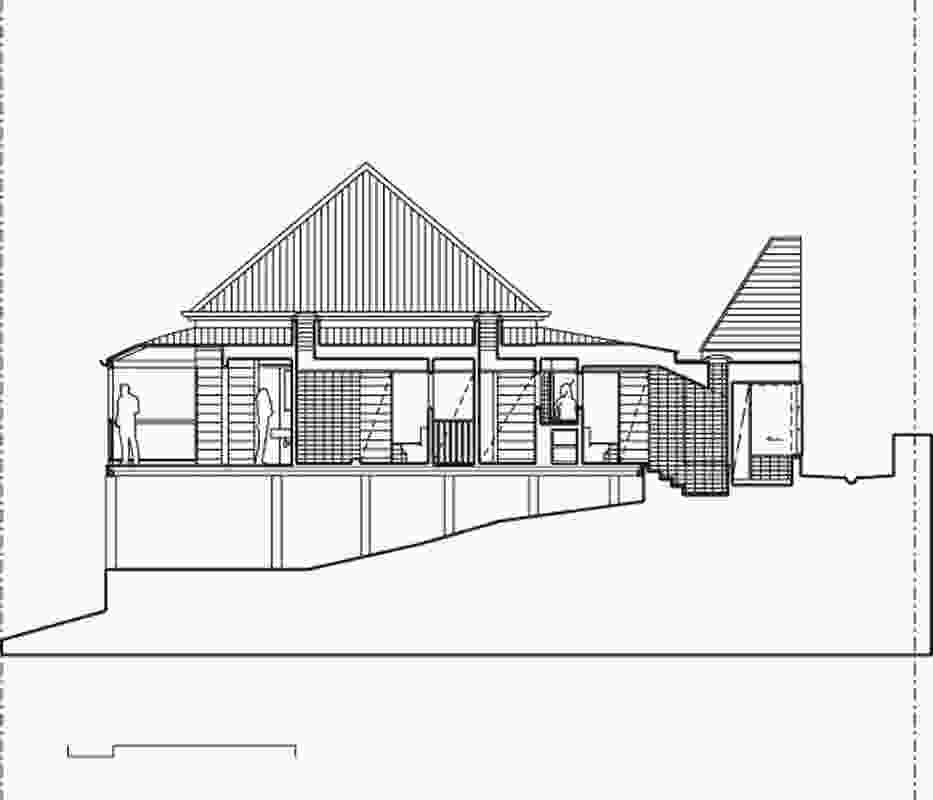 Section of Four-Room Cottage by Owen and Vokes.