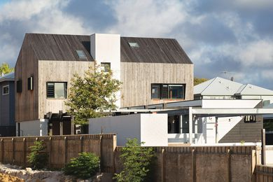 The cypress pine cladding was chosen because it will weather and age naturally.