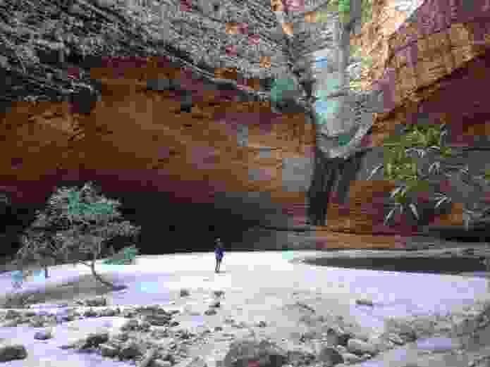Contemplative pool, Cathedral Gorge, Purnululu National Park, WA.