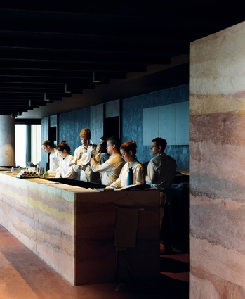 The restaurant's materials and colours are an expression of Australian land and water.