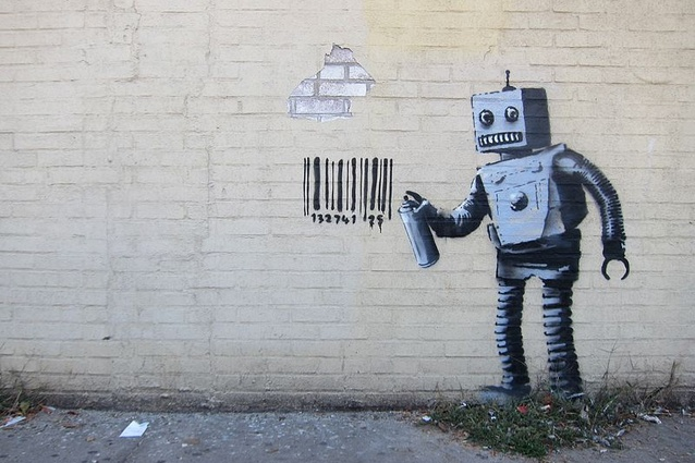 "Our computers could soon become intelligent enough to perform creative tasks. <i>Artwork from Banksy's ""Better Out Than In"" October 2013 New York City residency. </i>"