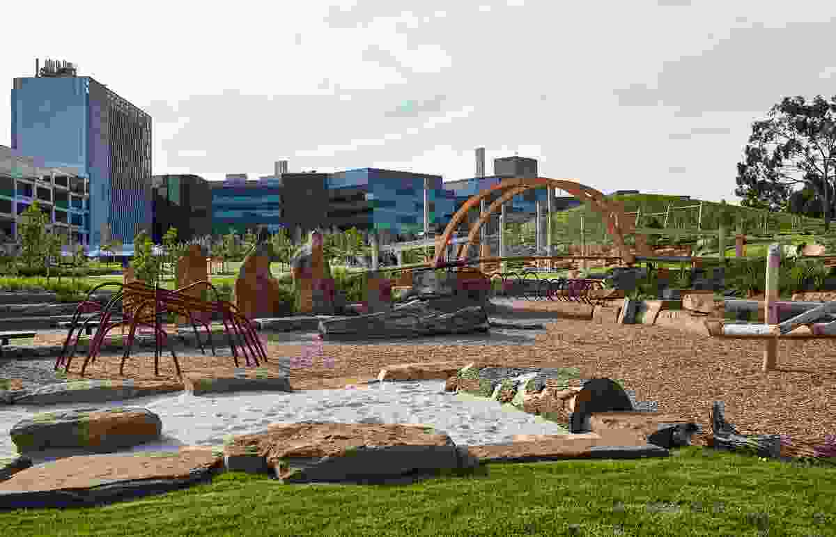 The designers wanted play to be intrinsically connected to landscape.