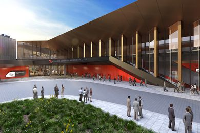 The expansion of the Melbourne Convention and Exhibition Centre by NH Architecture and Woods Bagot.