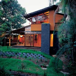 The Taringa House. North elevation to the garden.