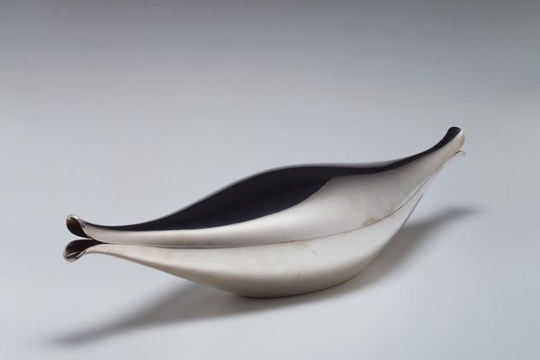Fish dish designed by Henning Koppel, manufactured by Georg Jensen Sølvesmedie.