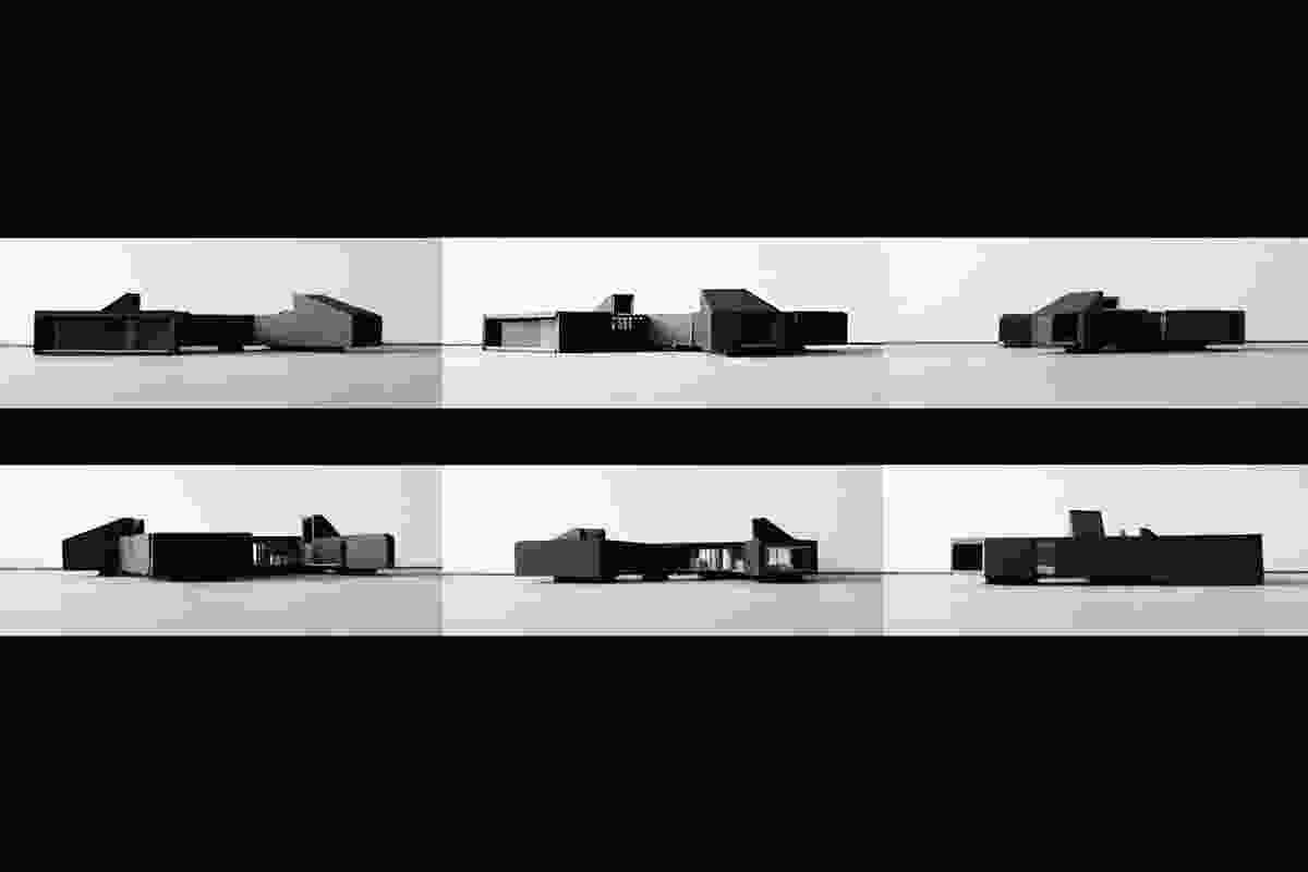A series of concept models for the Karri Loop House.