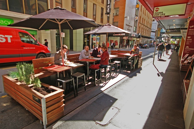 Foods for Life Parklet by Troppo Architects.