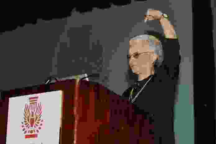 Giving the keynote speech at the AIA Grassroots conference in 2006.