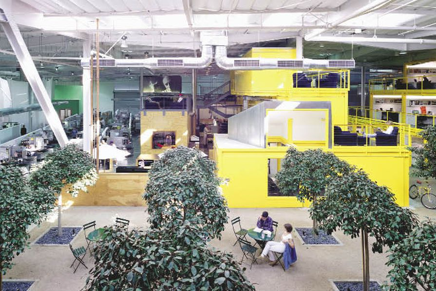 TBWA/Chiat/day, Los Angeles, by Clive Wilkinson Architects, 1998.