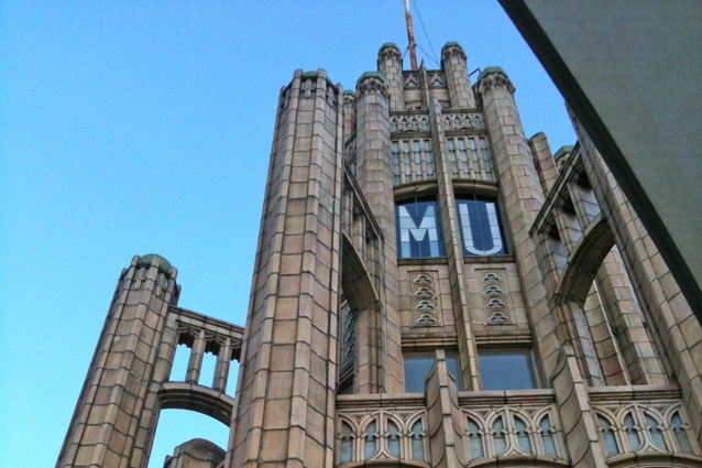 The top of the Manchester Unity building.