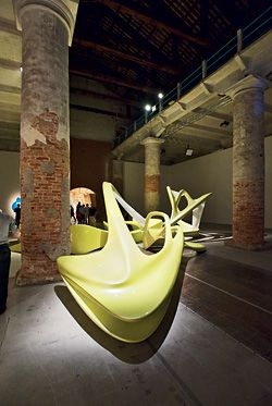 Lotus installation, by Zaha Hadid in the Arsenale.Image: John Gollings