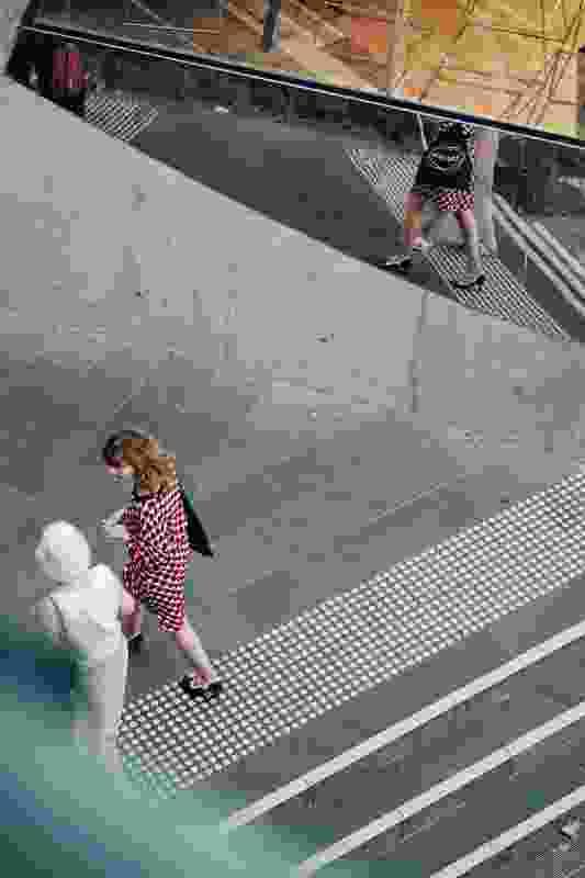 Two women in Melbourne's CBD.