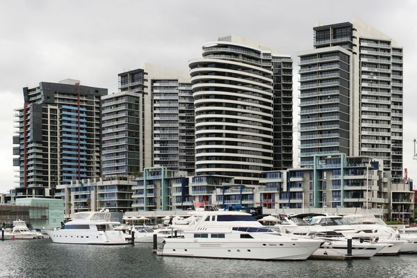 Luxury apartments in Melbourne's Docklands.