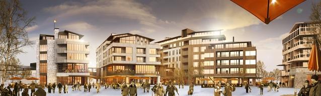RTA's competition-winning scheme for the Hanazono Resort Village.