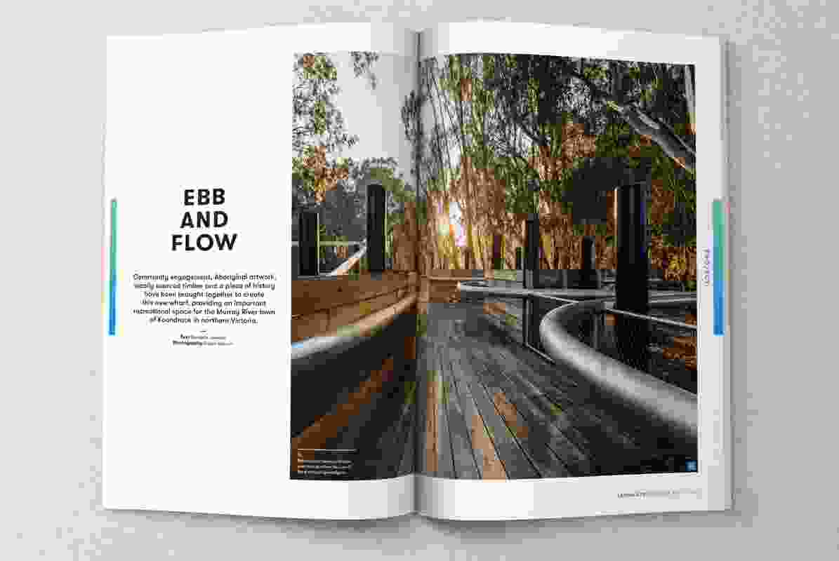 Spread from the August 2017 issue of Landscape Architecture Australia.