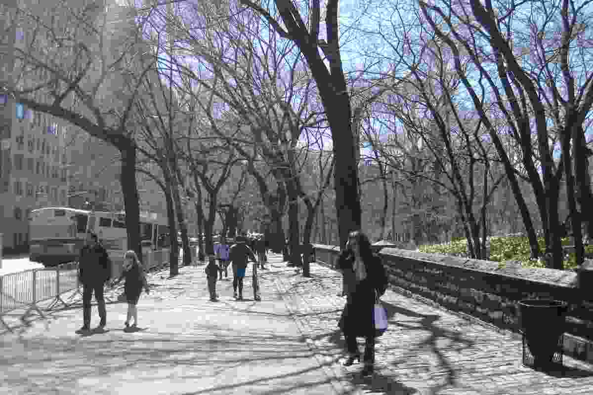 Central Park is bordered by Fifth Avenue on the east side - a wide promenade known to tourists as Museum Mile.