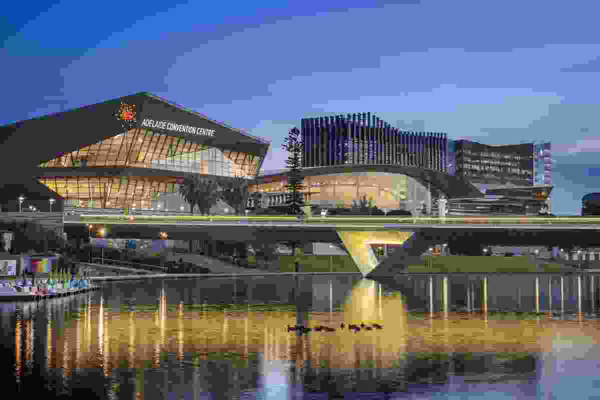 The Adelaide Convention Centre's East Building by Woods Bagot.
