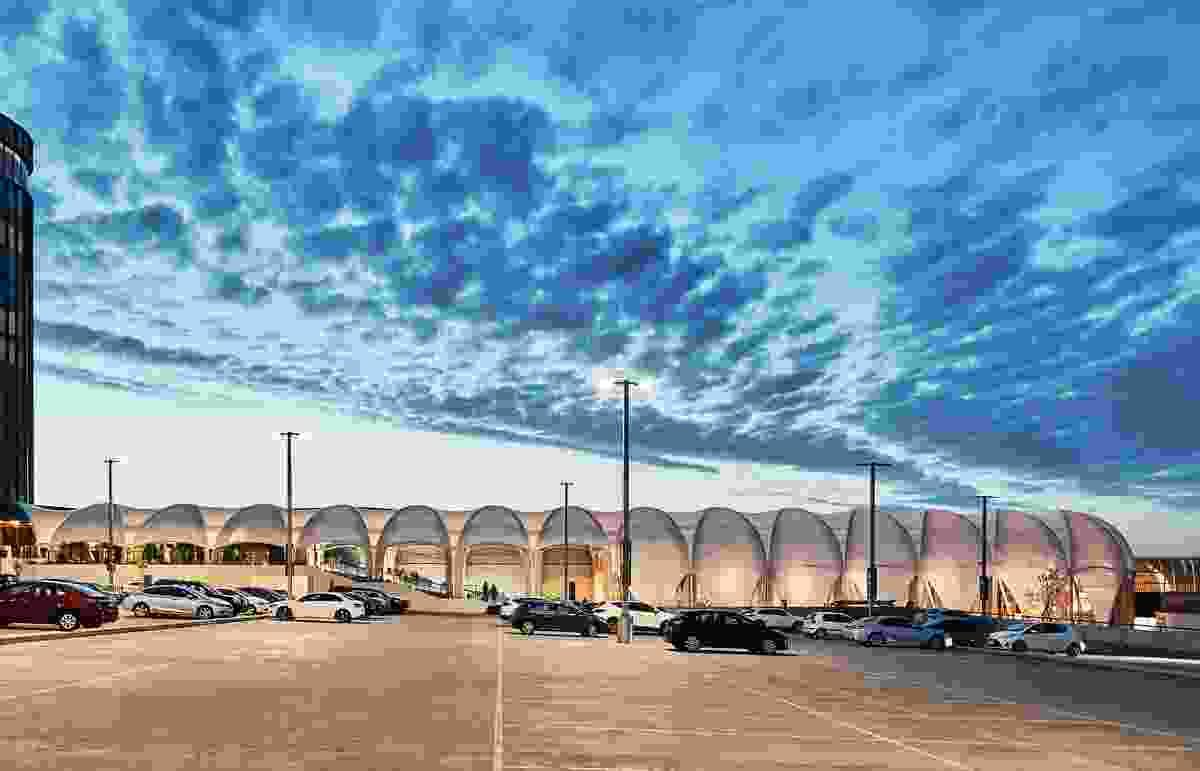 通过从停车场回收空间,林克将购物中心定位为一个深思熟虑的组织,以解决实体零售空间面临的多重挑战。