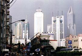Street scene in Shanghai. Photograph Paul Walker.