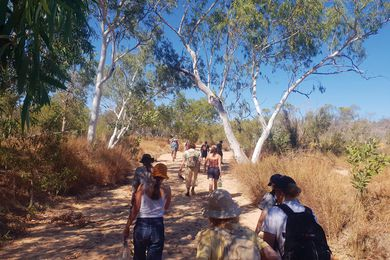 Walking the Lurujarri Dreaming Trail allows participants to experience the area's landscape, unmediated by conventional frameworks.