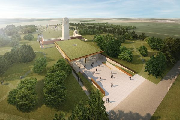 The proposed Sir John Monash Centre addition to the Australian War Memorial at Villers-Bretonneux in France by Cox Architecture with Williams, Abrahams and Lampros.
