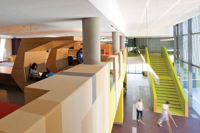 Colour In Commercial Design Victoria University Learning Commons And Exercise Science Sport Precinct Project