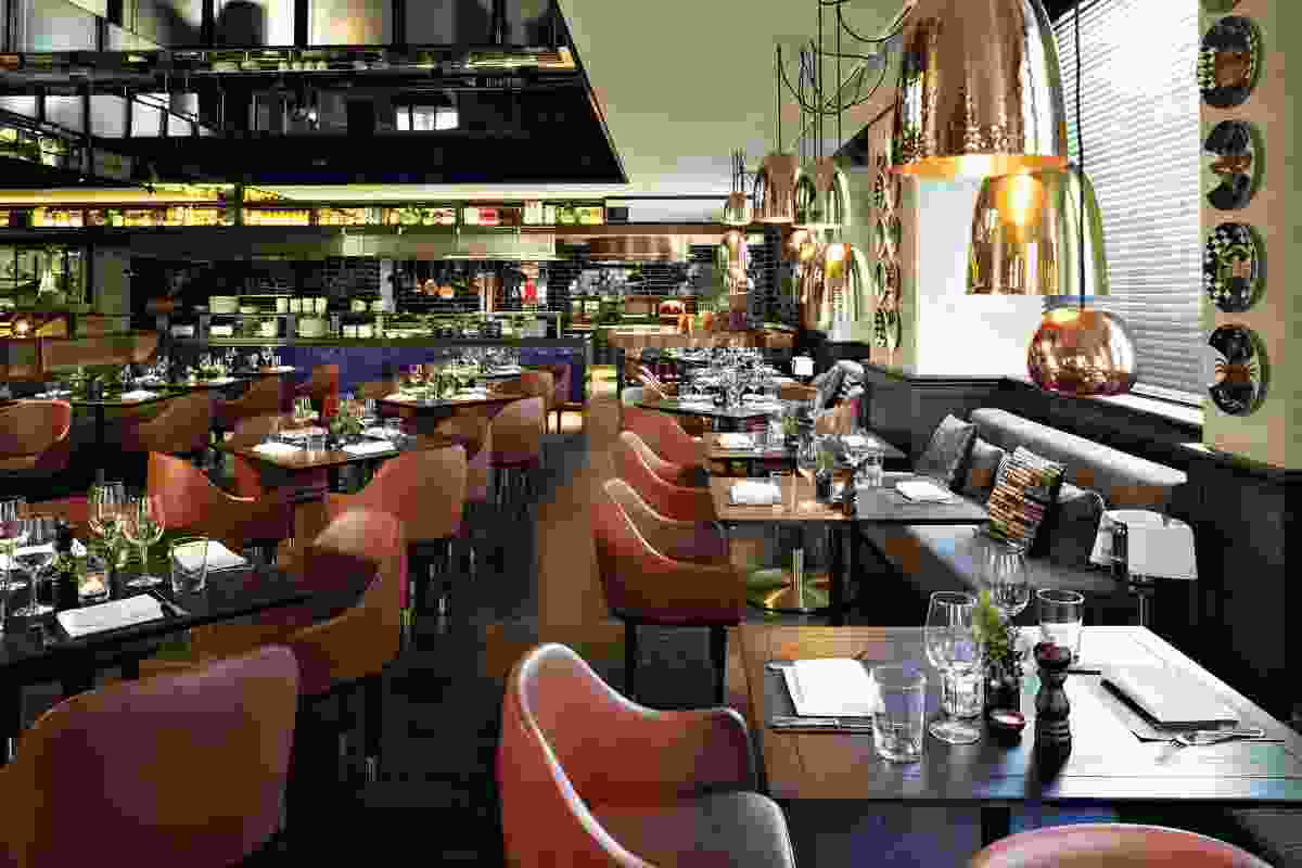 Gowings Bar and Grill – dark wooden floors and exposed fittings.