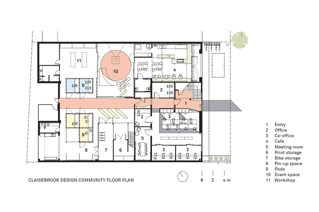 Plan of Claisebrook Design Community by Coda Studio.