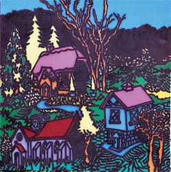 Howard Arkley, Tudor Village, 1986. Copyright courtesy of The Estate of Howard Arkley. Licensed by Kalli Rolfe Contemporary Art.