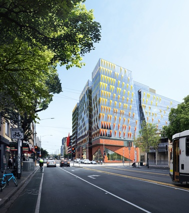 The proposed Carlton Connect precinct by Woods Bagot.