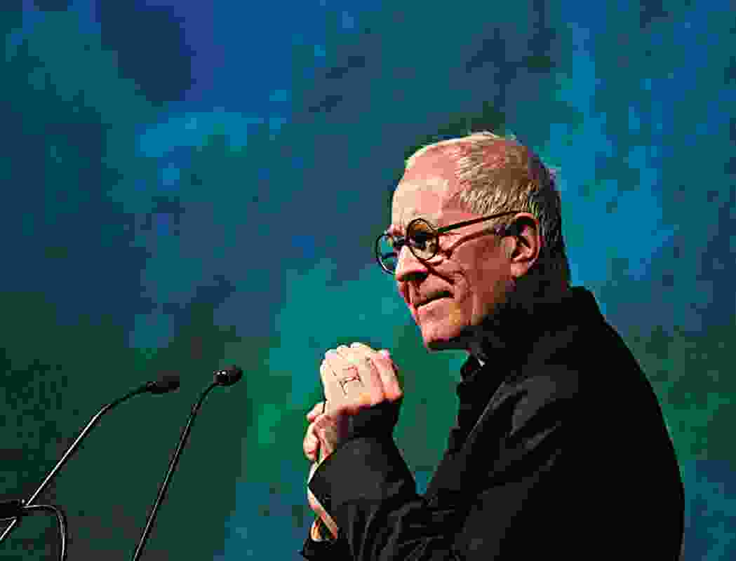 Sir Peter Cook in his talk at the Unlimited design triennale, Brisbane 2010.