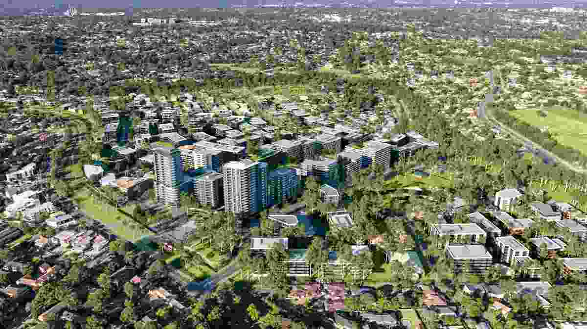 The proposed masterplan for Telopea led by Urbis.